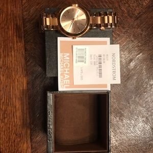 Michael Kors Rose Gold Watch w box !